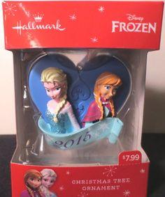 HALLMARK DISNEY 2015 FROZEN ELSA & ANNA CHRISTMAS ORNAMENT DATED 2015 ~ NIB! in Collectibles, Decorative Collectibles, Decorative Collectible Brands   eBay