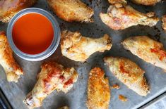 An easy, foolproof Buffalo Wing Sauce, plus the all-time best crispy, baked chicken wings recipe along with a bonus blue cheese dip option! Baked Chicken Wings, Chicken Wing Recipes, Thai Chicken, Clean Eating Desserts, Eating Healthy, Pepper Steak, Buffalo Wings, Spicy Recipes, Healthy Breakfasts