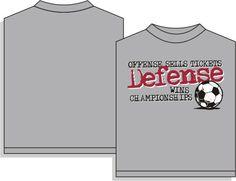 "Utopia ""Defense Wins"" Short Sleeve Soccer T-Shirt"