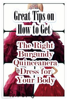 Tips for Finding the Perfect Burgundy Quinceanera Dress. Probably the most vital part of a quinceanera for a girl is her dress! Burgundy Quinceanera Dresses, Our Girl, Fashion Show, How To Memorize Things, Princess, Tips, Style, Swag, Outfits