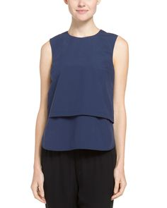 """Spotted this Theory """"Hodal.Sheltered"""" Faded Midnight Layered Top on Rue La La. Shop (quickly!)."""