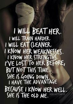 I WILL BEAT HER! More