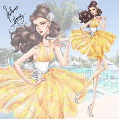 The Disney Princess Summer Collection 2015 by #guillermo_meraz 'Belle'| Be Inspirational ❥|Mz. Manerz: Being well dressed is a beautiful form of confidence, happiness & politeness