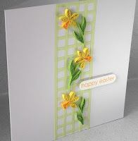 quilled Easter card. Simple and elegant.