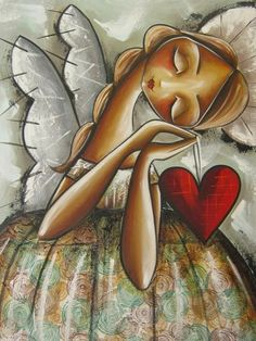 angel paint and sip Angel Images, Angel Pictures, Christian Artwork, I Believe In Angels, Angel Art, Heart Art, Whimsical Art, Beautiful Paintings, Mixed Media Art