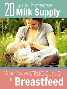 20 tips to increase low milk supply when you're struggling to breastfeed @mumsmakelist #baby