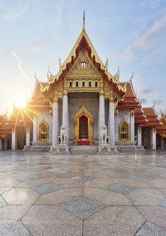 The Marble Temple, Bangkok, Thailand.