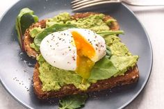 This easy poached egg and avocado toast takes less than 10 minutes from start to finish! A healthy whole food breakfast to start your day right!
