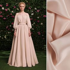 This simple, but elegant gown by Yulia Prokhorova is beyond inspiring! Are you going to be designing anything similar? Try our premium silk crepe de chine, item #PV1200-106 on moodfabrics.com.   #fabric #fabricshopping #moodfabrics #mood #fashion #instafashion #lovetosew #sewing #fashiondesign #summer #spring #inspiration #trends #colorful #color #colors #highfashion #eveningwear #formal #gown #luxury #garmentdistrict #designer #runway #style