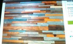 Reclaimed wood head board