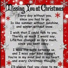 christmas poems for loved ones in heaven - Google Search