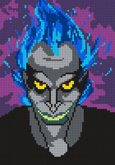 Hades From Hercules Perler Bead Pattern / Bead Sprite by Maninthebook