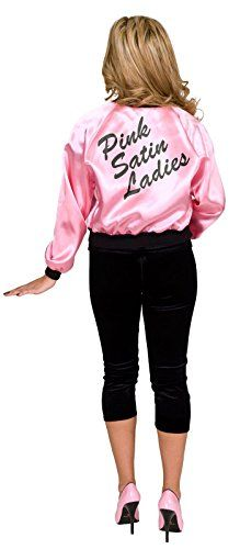[Halloween Costumes Women] Pink Satin Ladies Plus Size Jacket ** Check this awesome product by going to the link at the image. (This is an affiliate link) #HalloweenCostumesWomen