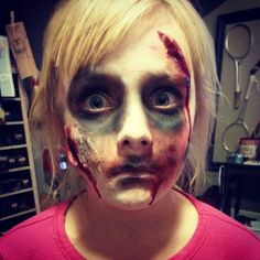 Special effects makeup. Makeup. Blood and gore. Haloween makeup. Its what I do. ;)