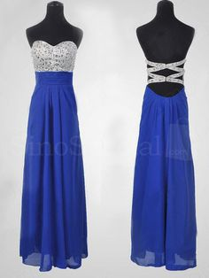 Fantastic Royal Blue A-line Sweetheart Floor Length Prom Dress