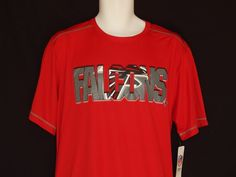 Atlanta Falcons Athletic Wicking Tee Shirt MENS Size Large Red NFL Team  Apparel… 5c0111d68