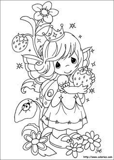 petite fille à la fraise