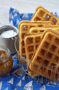 Najlepsze gofry na maślance Healthy Deserts, Nutella, Kids Meals, Food And Drink, Health Fitness, Favorite Recipes, Baking, Breakfast, Sweet