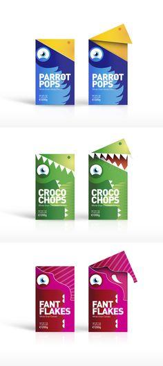 Unique cereal packaging design