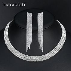Elegant Tassel Crystal Bride Jewelry Set // Price: $14.95 & FREE Shipping //  We accept PayPal and Credit Cards.    #shoes