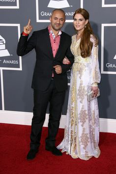 Moroccan caftan at the Grammies