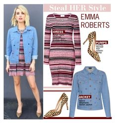 """Emma Roberts"" by swweetalexutza ❤ liked on Polyvore featuring Tanya Taylor, Loeffler Randall, emmaroberts and Stealherstyle"