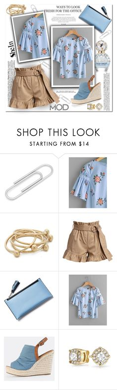 """SHEIN: Blouse"" by wanda-india-acosta ❤ liked on Polyvore featuring Cufflinks, Inc., Jacqueline Rose, Cinq à Sept, Bling Jewelry and Retrò"