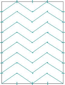 How to paint chevron stripes - this will be perfect in Madison's new room...