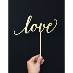 Cake topper, napis na tort, love. - METHOD_SHOP - Akcesoria