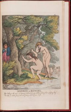 Miseries of Bathing, 19th century, Lewis Walpole Library Digital Collection