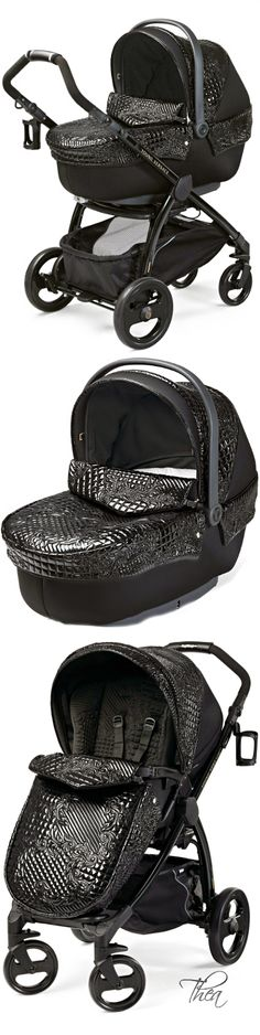 Young Versace ● Black Stroller and Travel Set Versace, Pram Stroller, Baby Strollers, Baby Wish List, Baby Must Haves, Prams, Everything Baby, Traveling With Baby, Unique Baby