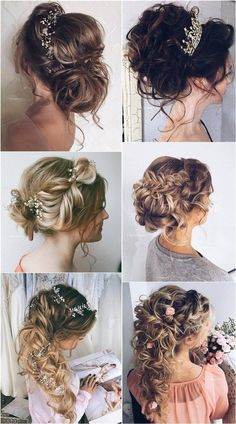 Ulyana Aster Long Wedding Hairstyles ❤ See more: http://www.deerpearlflowers.com/romantic-bridal-wedding-hairstyles/