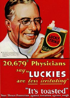 advertising antique snuff lucky strike doctors