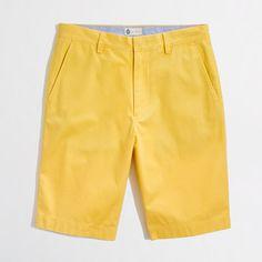 "Factory 11"" Rivington short in Yellow"
