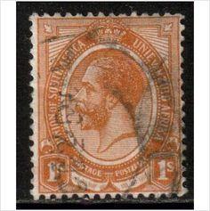 South Africa Scott 11 - SG12, 1913 1/- used stamps sur le France de eBid