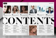 Page Layout Design, Magazine Layout Design, Editorial Layout, Editorial Design, Table Of Contents Design, Magazine Table, Magazine Contents, Publication Design, Communication Design