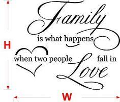 FAMILY LOVE vinyl wall quote - VINYL sticker - wall art XXL size N35   eBay
