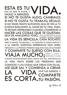 Holstee Manifesto en castellano