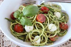 Zucchini Noodle Caprese | www.downshiftology.com