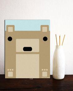 Geometric Animals  Bear 2D Nursery Art Kids by paperpandaKIDS, $1.00