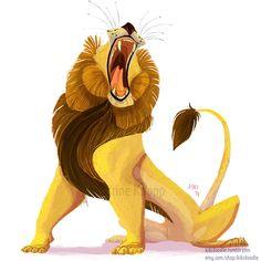 Lion Roar sticker or magnet by kiki-doodle.deviantart.com on @deviantART