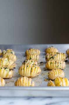 Hasselback Garlic and Herb Baby Potatoes - crispy and delicious! | @tasteLUVnourish on TasteLoveAndNourish.com