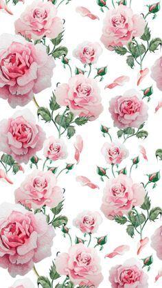 By Artist Unknown. By Arti Flower Phone Wallpaper, Print Wallpaper, Cellphone Wallpaper, Pattern Wallpaper, Iphone Wallpaper, Decoupage Vintage, Decoupage Paper, Vintage Paper, Flower Backgrounds