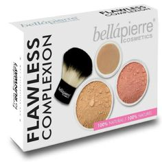 The Bellapierre Flawless complexion kit is an essential kit for complexion perfection. Made with 100% minerals, this kit will help you achieve a flawless look and full coverage throughout the day. The kabuki brush as an applicator you are guaranteed to achieve a flawless finish time after time.