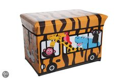 Cosy&Trendy for kids Kiddie Opbergzitbox - Safari - 49 cm x 49 cm