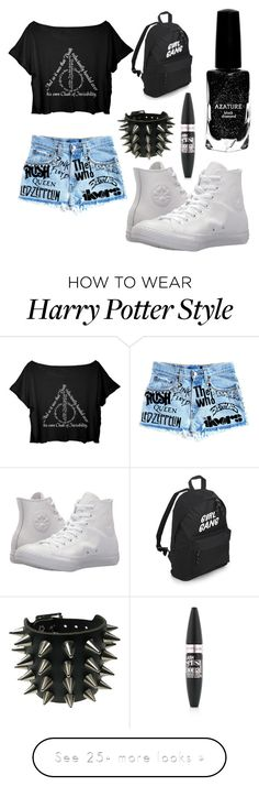 """Untitled #171"" by shirindavidgirl on Polyvore featuring Converse, Maybelline and Azature Harry Potter Food, Harry Potter Style, Harry Potter Outfits, Harry Potter Quotes, Harry Potter Characters, Outfits For Teens, Cute Outfits, Harry Potter Filming Locations, Maybelline"