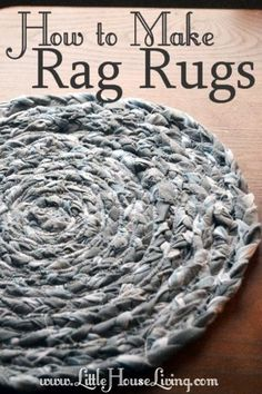 DIY How to Make Rag Rugs. Make beautiful rugs out of old sheets! I will definitely be making a bunch of these for the new home. Love this IDEA for the rustic vintage look I'm going for in our farmhouse. Would be great for the kitchen, bedroom or bathroom