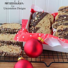 Chocolate Dipped Toffee Cookies... the perfect holiday gift!  #ChristmasCookies  #Christmas  #HolidayBaking