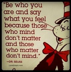 Dr. Seuss Quote quote happy dr seuss inspiration be yourself