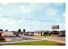 vintage pool ad | Maria Motel Swimming Pool Old Car Near Tyler Texas Vintage Advertising ...